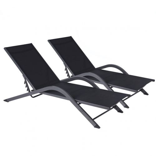 Vicky Adjustable Aluminium Sun Lounger TWIN PACK