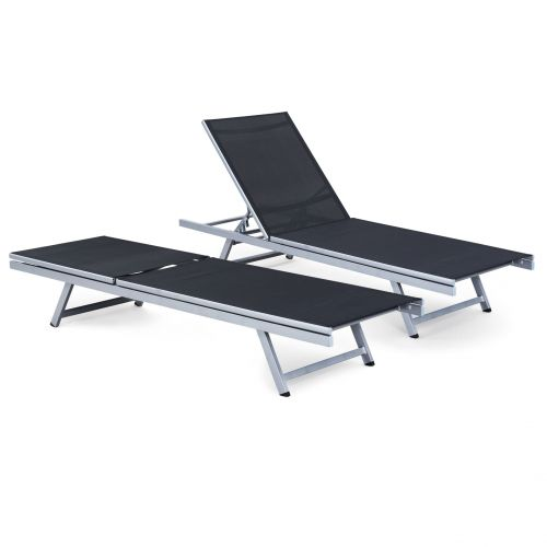 Diva Folding Sun Lounger TWIN PACK